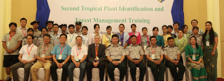 东南亚中心第二届缅甸热带植物鉴定与森林管理培训班开幕