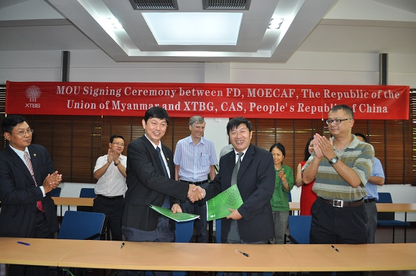 A memorandum of understanding (MOU) was signed between XTBG and Myanmar FD
