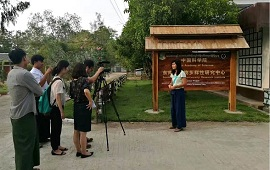 China media visited CAS-SEABRI Myanmar office