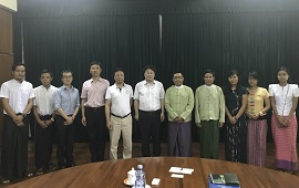 SARI, CAS and CAS Innovation Cooperation Center (Bankok) visited Myanmar and CAS-SEABRI