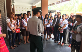 Students from Botany Department, Dawei University visited CAS-SEABRI