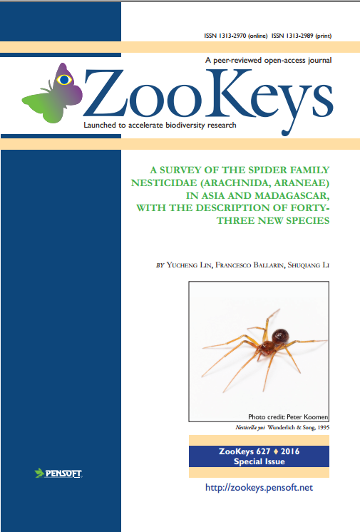 A survey of the spider family Nesticidae (Arachnida, Araneae) in Asia and Madagascar, with the descr